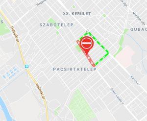 Még szeptember 23. -a éjfélig egyirányú a Török Flóris utca a 52-es villamos pályafelújítása miatt