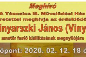 Vinyarszki János kiállítás